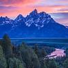 Teton Sunset Over Snake River