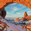 Cold View-The 'Windows'-Arches NP, Utah