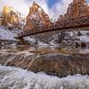 Zion in Winter-Patriarch Bridge 2, Utah