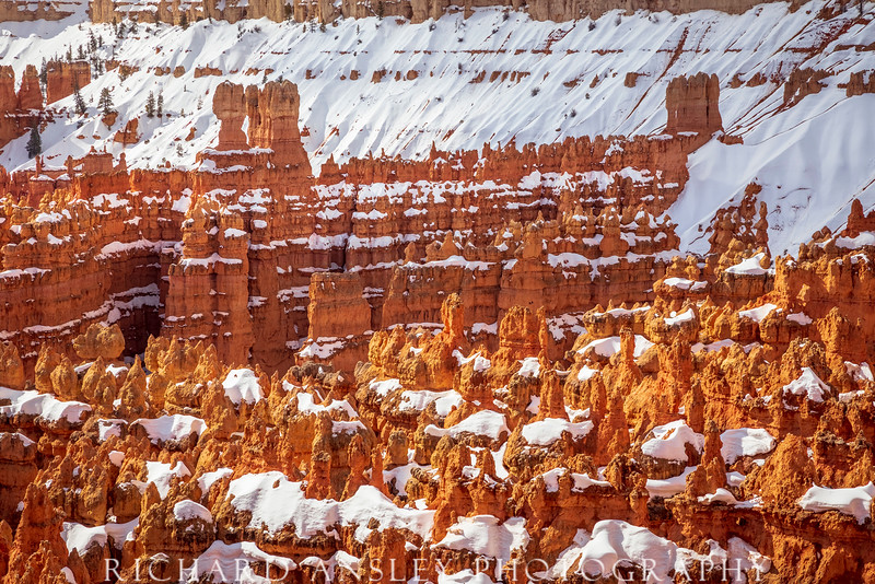 Snowcapped Castles-Bryce Canyon NP, Utah