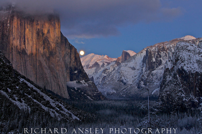 Moonrise Over Yosemite Valley-Yosemite NP, CA