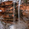 Zion in Winter-Emerald Falls 1