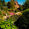 Magic walkways wind through gorgeous flower gardens under crystal blue skies within Allen Centennial Gardens of the University of Wisconsin Madison (USA WI Madison; 2012 Nikon D300s Image 3292)