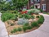 D159-2013  Flower garden in front of the Rudolf Steiner House.<br /> <br /> Geddes Avenue, Ann Arbor, Michigan<br /> June 8, 2013