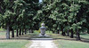 Toledo Botanical Garden<br /> <br /> One half of the 'Grand Allee'.  Two gravel paths, decorated with stone urns, each path lined with oak trees of the same age, shape, and size, make up this feature on the south side of the Garden.  One of the two paths is shown here.