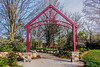 Entry arch to trails, playground, and garden areas