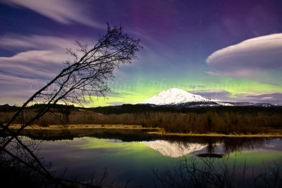 Aurora borealis seen from southern Washington State.