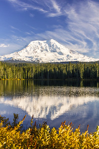 Fall at Takhlakh Lake #3060 Mount Adams on October 17, 2013
