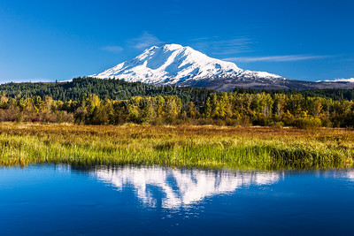 Autumn reflections of Mount Adams 5686