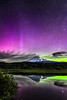 Aurora Borealis over Mount Adams June 2, 2013 Trout Lake Natural Area Preserve