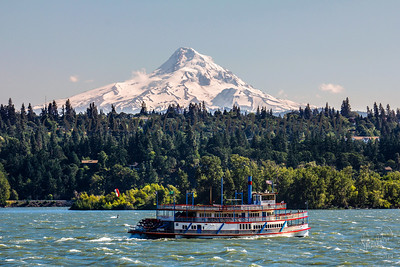 Sternwheeler and Mount Hood