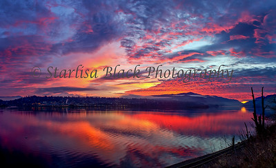 Fire Sunset Panorama
