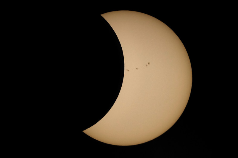 Great American Solar Eclipse 2017 - Sunspots Visible