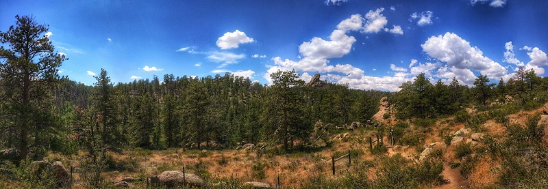 The Chameleon - Panoramic in Curt Gowdy State Park, Wyoming