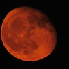 Blurry Red  Moon