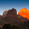 Sunset at Zion National Park, Hurricane, Utah, January 2013