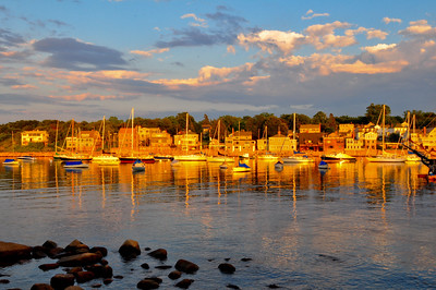 Sunset in Rockport, MA