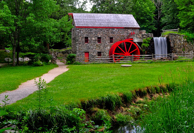 An old mill near Longfellow's Wayside Inn, Waltham, MA  Great dining in colonial atmosphere.  Longfellow's Wayside Inn is the oldest operating Inn in the country, offering comfort and hospitality to travelers along the Boston Post Road since 1716.