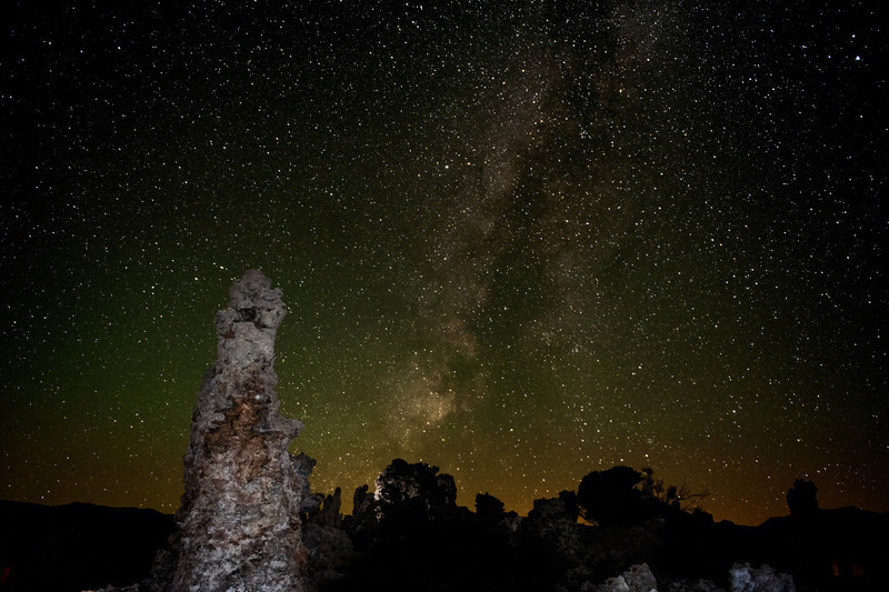Milky Way above Mono Lake, California