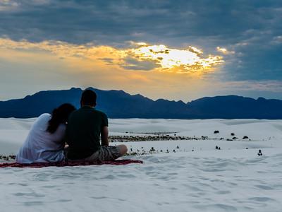 Sunset at White Sand National Monument