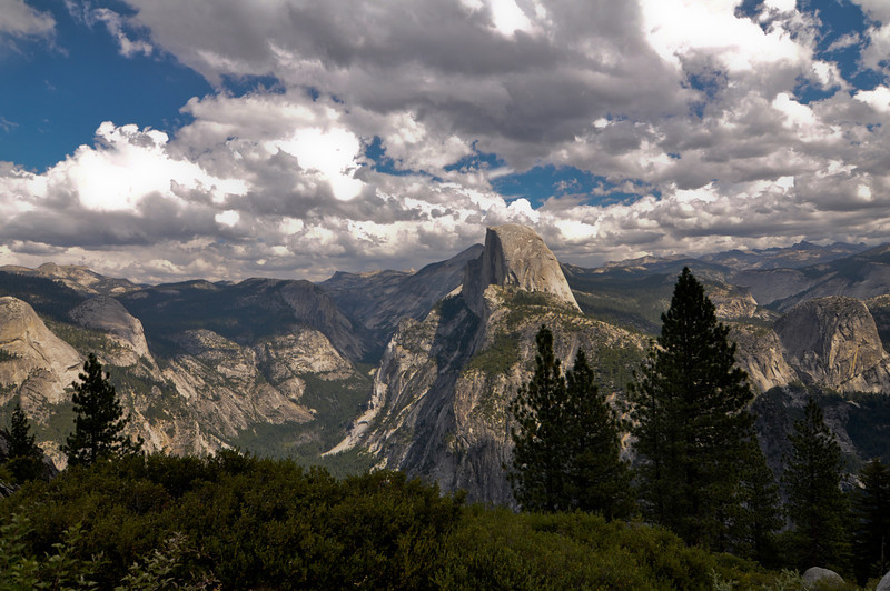 View of Half-Dome from Glacier Point, Yosemite