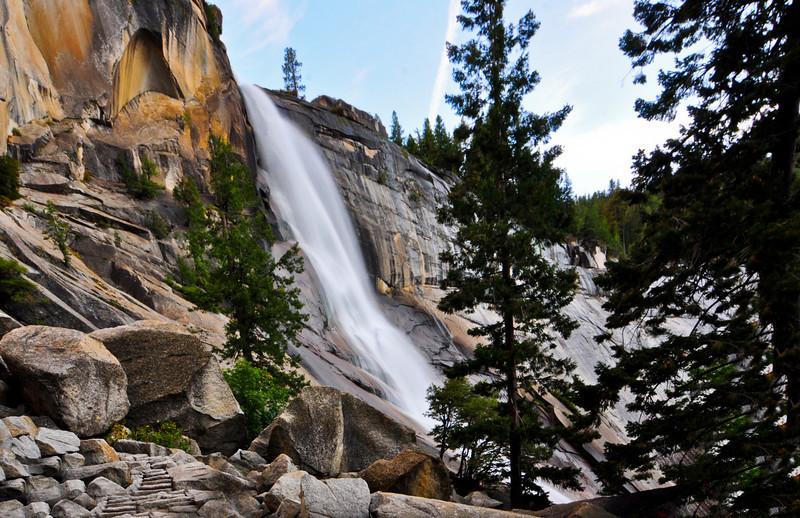 Nevada Fall from the Mist Trail, Yosemite