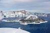 Wizard Island in Winter