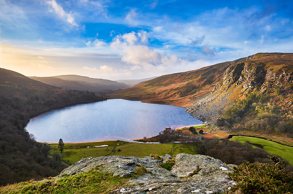 Sunrise At Lough Tay