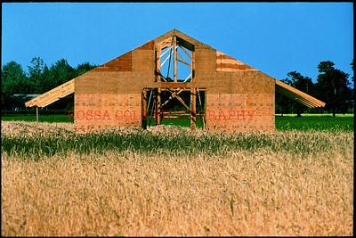 field, house
