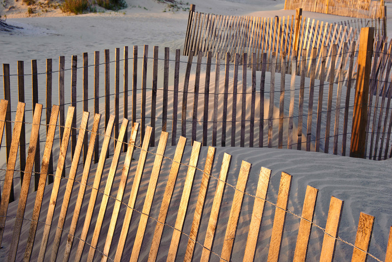 sand fences, Seabrook Island, South Carolina