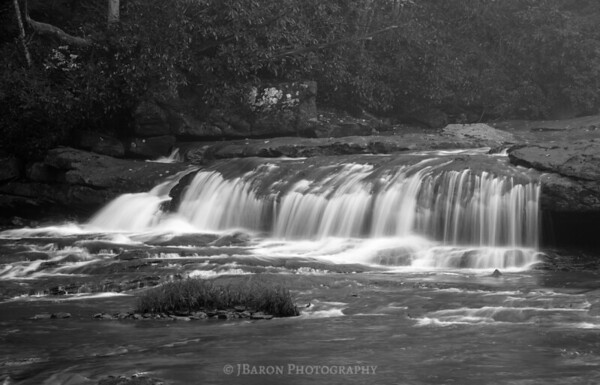 Meadow Run at Ohiopyle 4093 Monochrome