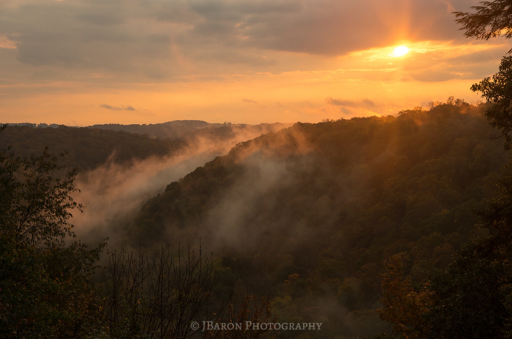 Cleland Rock Overlook at Sunset