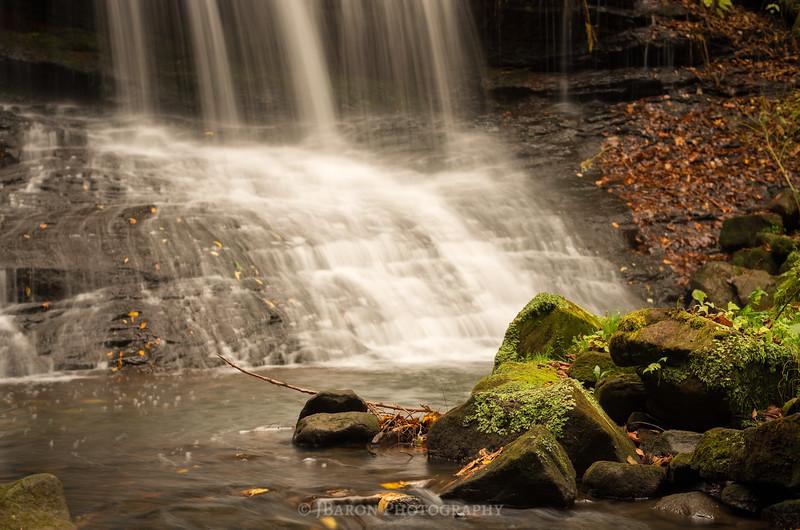 Moss Covered Rocks at Springfield Falls