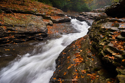 Natural Waterslides at Ohiopyle in October 4124