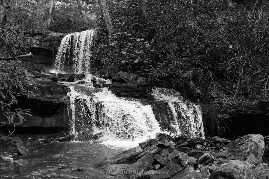 Cole Run Falls 6172 - monochrome