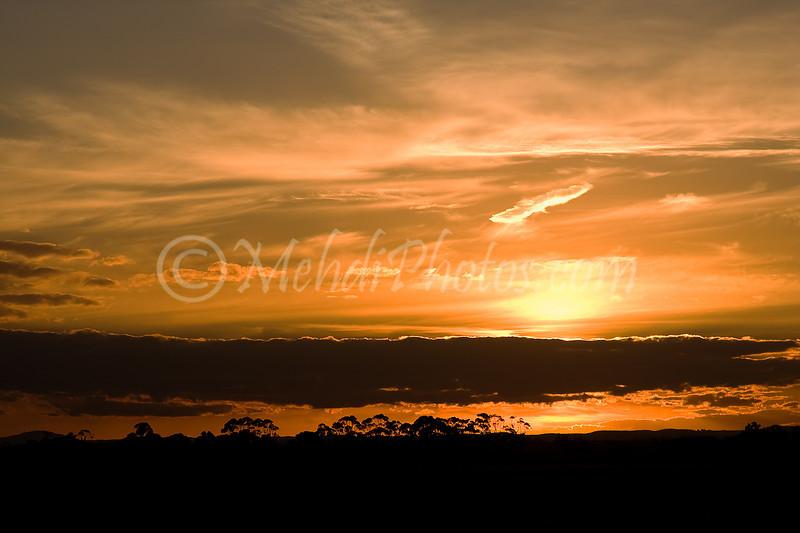 Sunset in Melbourne, Tullamarine.
