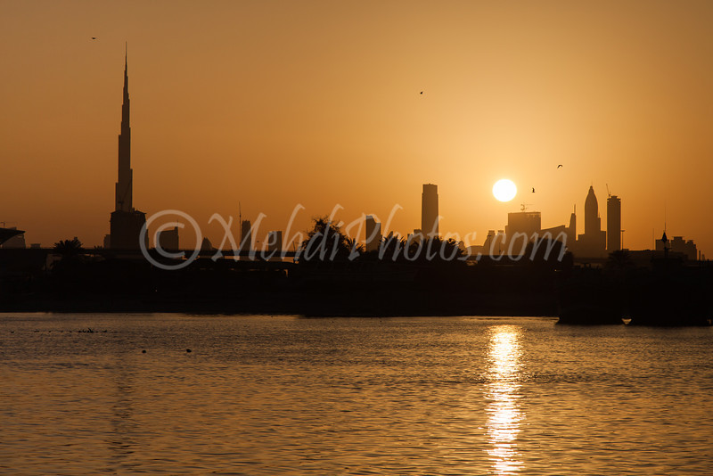Yet another beautiful sunset in Dubai.