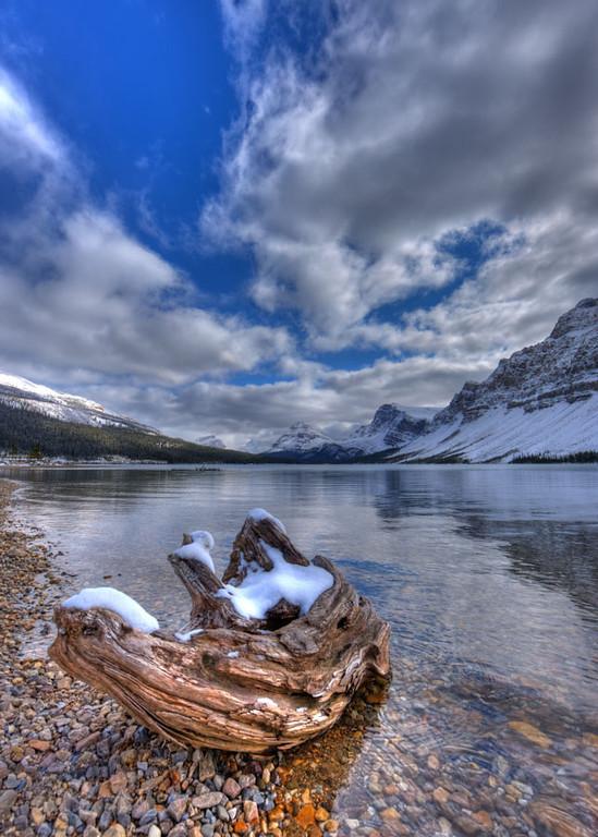 A040396   Bow Lake winter Scene
