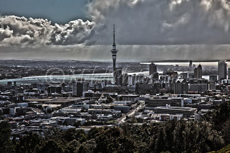 Auckland Downtown seen from Mt Eden.