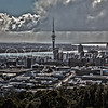 Auckland Downtown seen from Mt Eden.