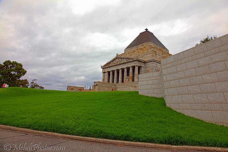Shrine of Remembrance, Melbourne, Australia Day 2011.