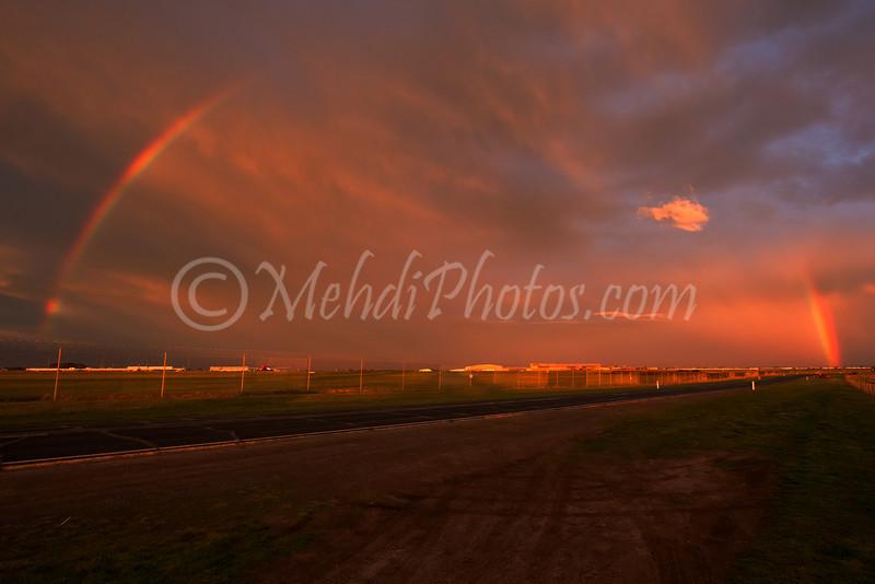 Double Rainbow, Melbourne Airport.
