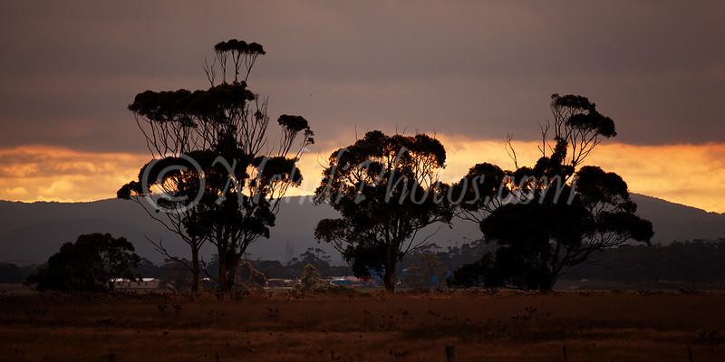 Beautiful sunset, Melbourne Airport.