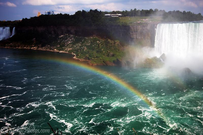 Rainbow and Niagara Falls, Canada side