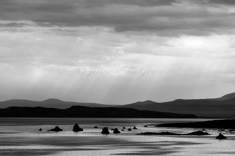Rays over Mono Lake. Copyright,  ©2007, James McGrew