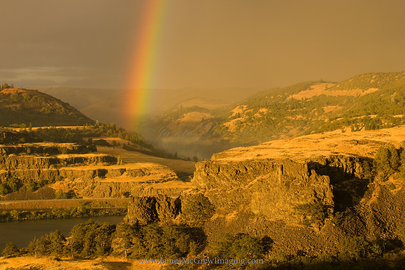 Rainbow and Basalt flows in the Columbia River Gorge.  ©2010 James McGrew