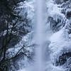 Winter Ice at Multnomah Falls.