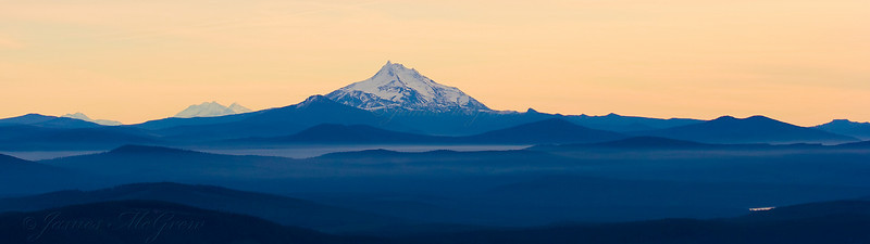 Mt. Jefferson Panorama from Mt. Hood.  Copyright, ©2008, James McGrew