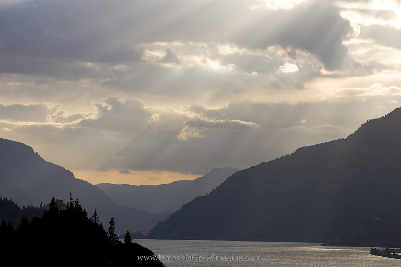 Heavenly Rays in the Gorge,  Hood River, OR. ©2010, James McGrew