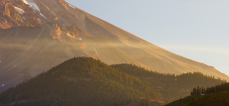 First Light on Mt. Shasta. Copyright, ©2008 James McGrew